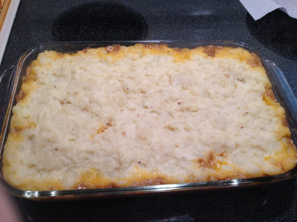 Cheesy Hamburger and Potato Casserole Recipe